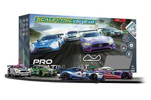 Scalextric ARC PRO Platinum GT Digital 30-Foot 1/32 Slot Car Track Set w/4 Cars