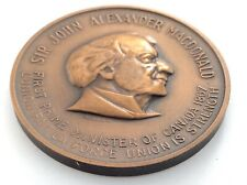 First Prime Minister Of Canada Sir John Alexander Macdonald Token 25 grams L123