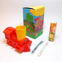 OLD Avon Kids TOOFIE TRAIN Toothbrush Set w Original Box UNUSED Vtg 1970s? NOS