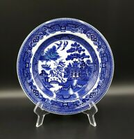L Straus & Sons BLUE WILLOW Luncheon Plate EXCELLENT