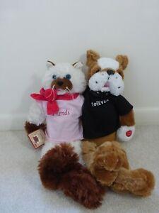"PBC CHANTILLY LANE MUSICALS FRIENDS FOREVER CAT & DOG DUET 18"" PLAYS FRIENDSHIP"