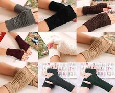 Hand Warmer Mitten Gloves Fingerless Winter Fashion Arm Wrist Crochet Braided