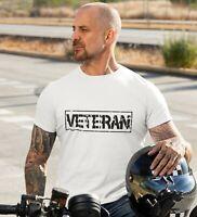 Veterano Combattimento T-Shirt Inglese UK Militare Forze Airsoft Gym Uomo Top
