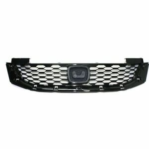 New Grille Painted Black For Honda Accord 2013-2015 HO1200217 71121T3LA01 2-Door