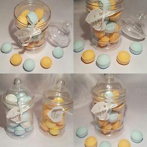 Jar fruit orange and lemon blueberry mini bath bombs fresh uk made