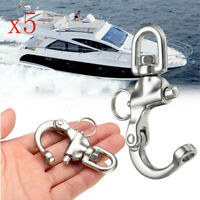 5X Quick Release Boat Anchor Chain Eye Shackle Swivel Hook Snap Stainless  \cn