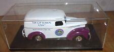 1997 Ertl Tip-Up Town Truck Bank - White & Burgundy Panel Truck