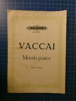 Edition Peters Nr.2073a VACCAI Metodo Practico Hohe Stimme H10260