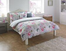 King Size Multi-Coloured Rosebery Floral Butterfly 180 Thread Duvet Cover Set