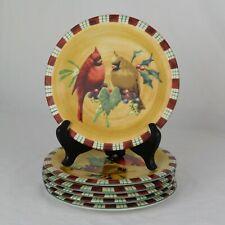"Lenox Winter Greetings Everyday Cardinal Salad Plate 8.5"" Catherine McClung"