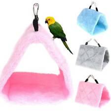 Pet Bird Parrot Parakeet Budgie Hammock Cage Hut Tent Bed Hanging Cave Toy Games