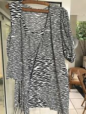 SASS And Bide Dress Feather Wrap Mini. Lack And White Size 10 As New