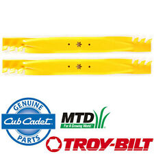 2 OEM Xtreme Blade MTD Gold White Yard-Man Huskee LT4200 Murray M221-42 M115-42