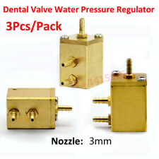 3Pcs Square Dental Valve Water Pressure Regulator for Dental chair Unit Turbine