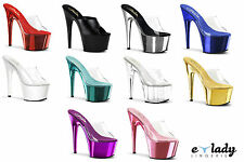 Pleaser Adore-701 Shoes Sandals Mules Stiletto High Heels Peep Toes Pole Dancing