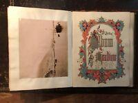 Exceptional Victorian scrap book photographs, crests, autographs & royal scraps