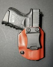 Glock 26/27/33 Chesnut Red Kydex OWB Right Holster Quick Ship Made in the USA