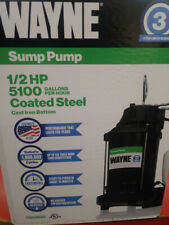 Wayne CDU800 - SUMP PUMP  1/2 HP Coated Steel - 5100 Gallons Per Hour - NEW