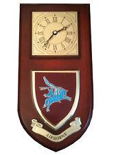 Airborne Pegasus Parachute Regimental Military Wall Plaque & Clock