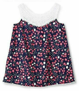 NWT Circo Toddler Girls 4th of July Red White Blue Floral Cover Up Dress 4T