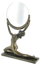 Art Deco Lady Cold cast bronze Mirror Ornament Gift