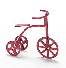 Dolls House Red Bike Child's Tricycle Miniature 1 12 Nursery Toy Shop Accessory