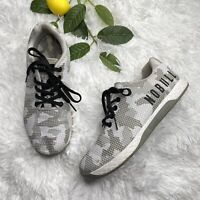 NOBULL Men's Sz 8 / Women's Size 9.5 White Camo Training Athletic Shoe CrossFit