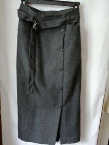"Vintage Jones New York Wool Skirt Lined Pencil Straight Dark Gray 6 Waist 25"""