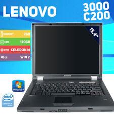 "Lenovo 3000 C200 Laptop - Celeron M - Windows 7 - 120GB HDD - 15.4"""