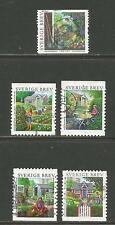 Sweden 2005 Urban Gardens-Attractive Topical (2510, 2511a-d) fine used