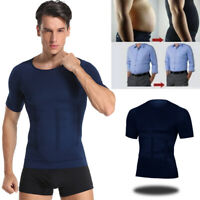Classix Men Body Toning T-Shirt Body Shaper Gynecomastia Compression Shirts US