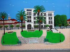 """Gabriel Donnet - """"La mairie du Cannet"""" - Tableau original Art naïf -"""