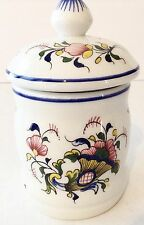 Rouen Fait Main Small Jar Container with Lid Signed R. D.