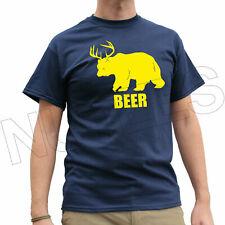 Bear Plus Deer Equals Beer Funny Men's Ladies Kids T-Shirt Vest S-XXL
