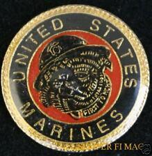 US MARINES BULLDOG MASCOT HAT PIN CHESTEY DEVIL DOG FMF USS MAR DIV WING USMC