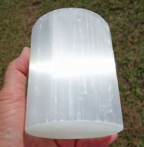 XXL White SELENITE Candleholder Premium Hand Selected Crystal 2 1/3 lbs For Sale