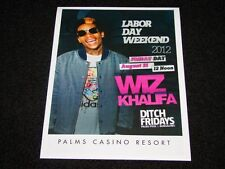 Wiz Khalifa Live @ The Palms Las Vegas 15x12 Matted Event Promo Ad / Art New
