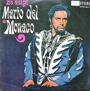 Es singt MARIO DEL MONACO - LP 1966 ETERNA 820609