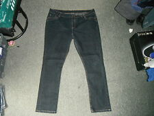 "Papaya Classic Fit Jeans Size 20 Leg 31"" Faded Dark Blue Ladies Jeans"