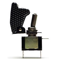 Kill Switch carbonio con cappuccio Auto Kipp Interruttore Interruttore 12v + LED BLU 20a NOS