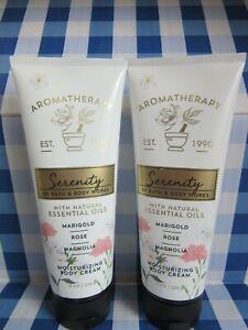 Bath and Body Works Aromatherapy Marigold Rose Magnolia Body Cream Set of 2
