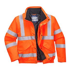 Portwest Hi Vis Bomber Jacket High Visibility Waterproof Coat Jacket Viz New