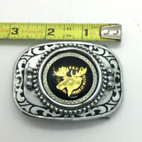 Loyal Order of Moose Belt Buckle P.A.P. Purity Aid Progress Western Style