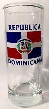 DOMINICAN REPUBLIC FLAG SHOOTER SHOT GLASS SHOTGLASS