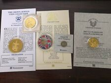 More details for collection commemorative coins with coas. silver threepence, crown, dollar etc.