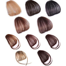 Thin Neat Air Bangs Real Human Hair Extensions Clip In Fringe Front Hair Piece