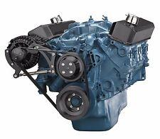 Black Small Block Chrysler Serpentine Pulley Kit 318 360 Mopar Alternator Only
