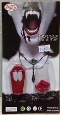 CARNEVALE HALLOWEEN DENTI DA VAMPIRO CON SANGUE VAMPIRE TEETH WITH BLOOD COSPLAY