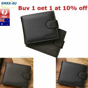 Genuine Leather Mens Wallet Purse Money Bag Coin Credit Card Clip Slim ID Holder