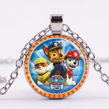 Paw Patrol  Cabochon Glass Tibet Silver Chain Charm Pendant Necklace
